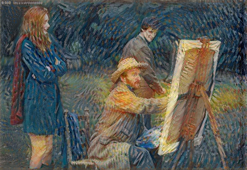 van Gogh, the Doctor, and Amelia styled using a van Gogh self portrait